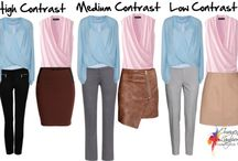 Contrast outfits
