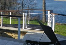 Grand Rivers, Kentucky / Wrapping the Keuka Style cable railing around this lighthouse and deck added a unique touch to a large lake house in Grand Rivers KY.