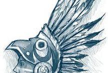 Disegni, simboli e oggettistica della cultura Azteca