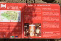 Catalunya: Concabella (Segarra) / Castillo del siglo XI e iglesia del XII.