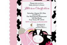 Cow Themed Parties / A cow or farm theme baby shower or birthday for boys and girls.