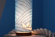 Tim Neve 'Anchorage' Lamp Collection / Introducing the 'Anchorage' Lamp Collection - utilising Tim Neve's debut fabric designs into hand-made cylinder shades, with quality wood bases. Shop the range now at store.timneve.com