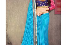 Sizzling Sarees / Scorch this New Year Party with sizzling sarees. Get those gorgeous blouses stitched for Rs. 250. Find more about these Satinee, rich, premium and shaded sarees in these pictures