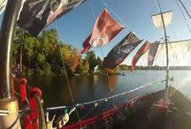 Pirate Television / Pirates Hideaway Pirate Ship, Tiki Bar, Ice Cream Shop, Eagle River, WI