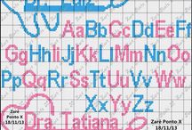 Crossstitch letters and quotes