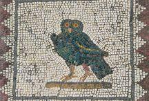 Mosaici di ucceli