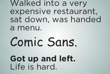 A March against Comic Sans font / I agree with all designers and graphicians who think, that Comic sans should never be created.