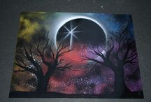 Spray paint art