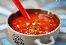 Zupa bakłażanowo-paprykowa