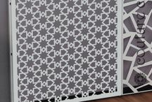 Laser cut screens for retail interiors