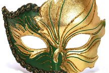 Venetian Masks / Authentic venetian carnival masks handcrafted in papier mache in Venice according to traditional masks making process by famous Masters.