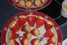 Favorite Recipes / STRAWBEERY CHEESE CAKE 1-8oz Philadephia Cream Cheese 4 Tablespoons Of Powdered Sugar 1 Teaspoon Of Vanilla Extract Mix into a mixing bowl until creaming-Cut top of strawberries off and hollow them out-then use a plastic sandwich bag and pipe in the filling and top off by dipping berries in graham cracker crumbs. AWESOMELY EASY AND DELICIOUS