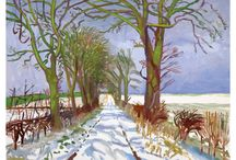 David Hockney RA / An award-winning range of exclusive gifts capturing the intense colours of David Hockney RA's remarkable Yorkshire landscapes. / by Royal Academy of Arts