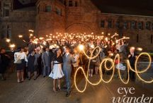 Sparklers at Weddings / Everyone loves to play with spaklers!! But when they are used at a wedding they can be really fun and creative. Here are some examples of how they can be used.