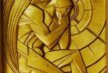 remarkable relief sculpture tiles
