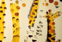 Giraffes & other animals / Drawings for the SCWBI Conference invite