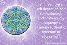 Positive affirmations / Sacred Geometry, colour therapy and affirmations