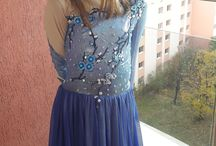blue skating dress / made by me
