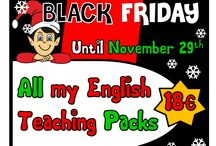 BLACK FRIDAY SPECIAL OFFER / BLACK FRIDAY SPECIAL SALE All English teaching resources for only 18 euros Available here: http://eslchallenge.weebly.com/