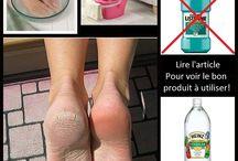 astuce pieds secs