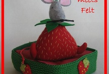 Crochet meets Felt / A match made in heaven: two creative friends, Mrs. Crochet and Mrs. Felt, combine their love for both yarn and felt and make all sorts of lovely things.