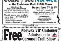 Norwex Events Near YOU! / Do you want to buy Norwex and not have to wait for it to ship? Well you're in luck, I'll be posting on this board where I will be for Craft Shows! I look forward to seeing you!