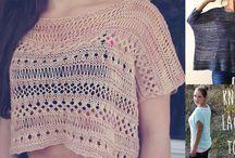 Štrikované a hačkované svetre, trička, topy