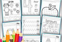 Le pré-scolaire 4-5 ans / Activités pré-écriture-chiffres etc.