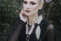 goth headbands/headpieces