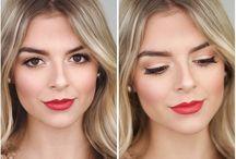 Wedding red lips