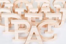 Timber letters / Freestanding timber letters