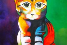Arte en Fauna / Pinturas abstractas figurativas en acrilico sobre lienzo