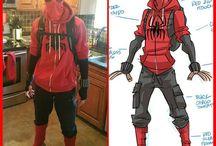 Spidey-boy costume