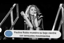 Paulina Rubio muestra su bajo vientre con sensuales movimientos