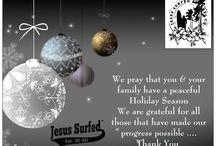 Merry Christmas / We would like to wish everyone an Amazing Holiday Season!!! #MerryChristmas #JesusSurfedApparelCo www.JesusSurfed.com