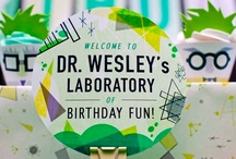 Liam birthday. Mad science!! / Kids birthday theme
