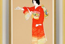 Woman / Japan Art / Japanese painting and craft