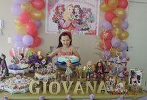 Festa de aniversário Ever After High / Festa da Giovana 9 anos.