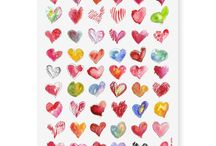 Art Temporary Tattoos / Decorate yourself with these fun washable tats for kids or adults.  Cartoon and watercolor designs of hearts, monsters, ...