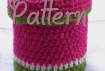 cajas  y cestos crochet
