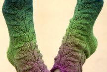 Örgü çorap patik