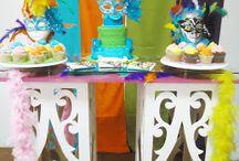 Fiesta Carnaval o Mascaras / Fiesta colorida y divertida, ideal para celebrar el cumpleaños de hombres y mujeres, recuerda llamarnos y cotizar tu evento al 3163190898 en Bogotá.