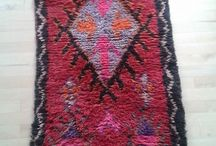 Azilal / Beautiful warm handmade wool carpets from Morocco.