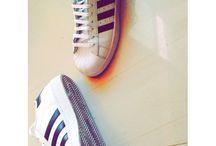 Adidas white & black sneaker