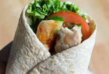 Sweet chilly chicken wrap