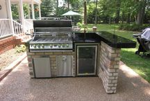 Backyard BBQ Built-in