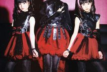Babymetal  / Japanese band  Cross between metal and pop  / by Roxanna Garcia