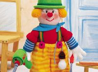 Knitted clowns