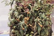 diorama soldiers at war