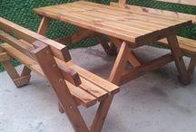 Ahşap Bahçe Masaları / Ahsapali.com